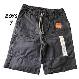 NWT Boys Jumping Beans Gray Shorts Sz 7