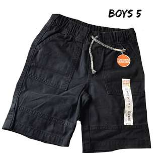 NWT Boys Jumping Beans black shorts Sz 5