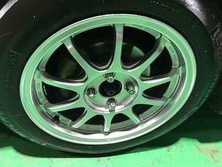 """Original Ssr type f rims 15"""" and tires"""