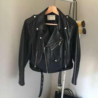 Zara - Cropped Leather Jacket