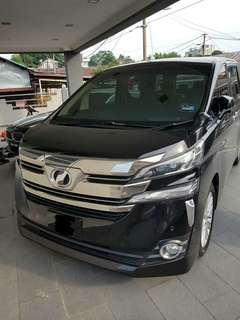 TOYOTA VELLFIRE NEW FACELIFT 2.5 ZAG FOR SAMBUNG BAYAR