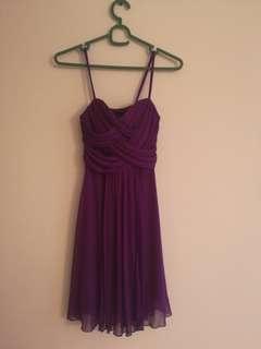 Purple flow dress