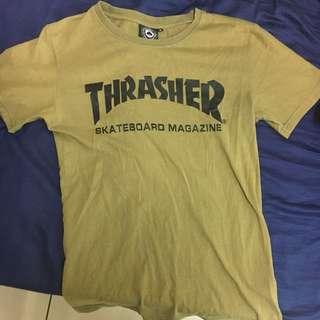 Thrasher墨綠短T