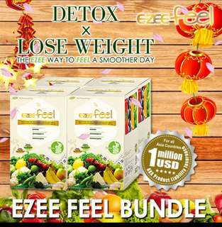 EZEE Feel slimming detox natural fiber drink weight lose
