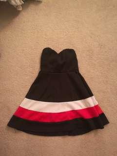 Xs strapless dress
