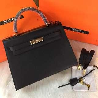 Hermes Kelly 32 Epsom Leather GHW