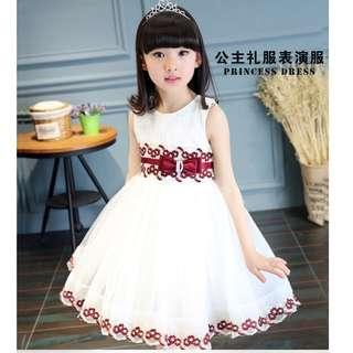 (Pre-order) Kids Princess Dress (Red & Blue) #530