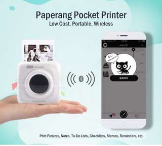 Paperang Mobile Instant Photo Printer