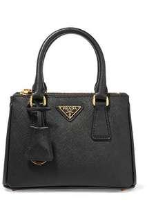 Prada Galleria Baby textured-leather tote