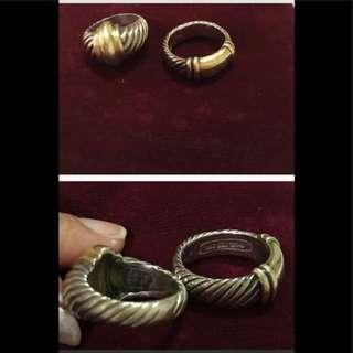 💯 authentic David Yurman cable rings David Yurman