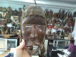 讓藏 afriean mask 非洲面具 tribal art $3500 無貨到付款喔😊