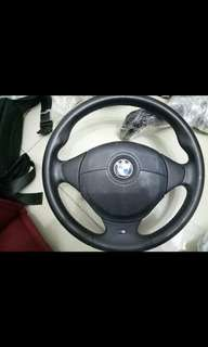 E36 M3 bmw steering leather tricolour stitch