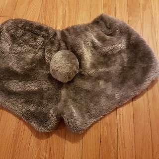 Plush Grey Bunny Shorts