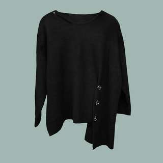 Black Long Sleeves with Side Detail