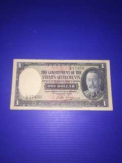 Straits Settlements $1 Year 1935
