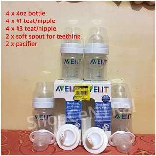 REPRICED! 3 Avent Classic 4oz feeding bottle