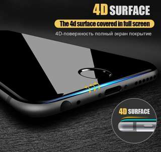 4D Tempered Glass iphone 6/6s/7/8/8plus/X screen protector