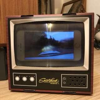🚚 日本 手機放大投影箱 復古電視盒
