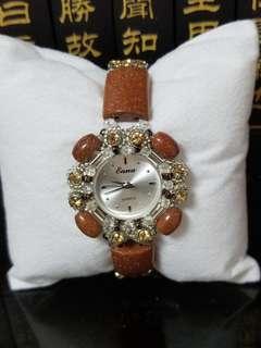 天然金砂石手錶