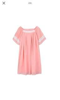 Elegant Solid Short-Sleeve Dress (FOR MOM)