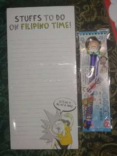Stationery set - Stuffs to do on Filipino Time + souvenir pen