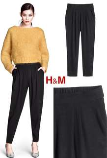 H&M Black Basic Pants Celana Hitam Basic
