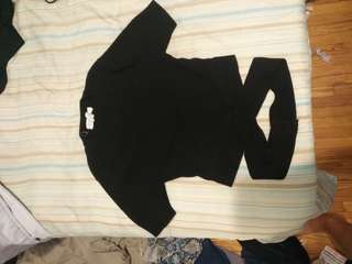 F21 mock neck knit crop top with bottom wraps