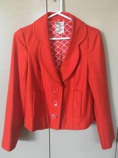 Tulle orange crop vintage jacket