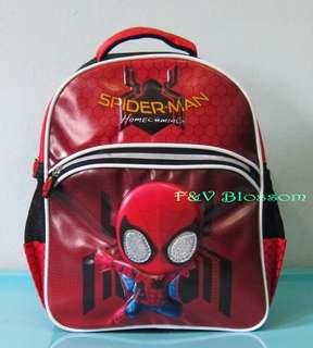 Tas Sekolah Anak Ransel Backpack TK 2 Kantong SPIDERMAN