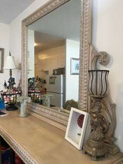 Beautiful Hand Crafted Console table w Mirror