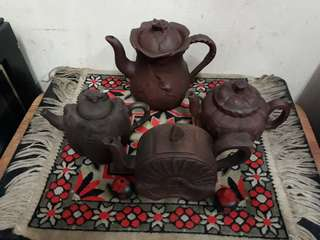 Old handmade chinese Tea Pots