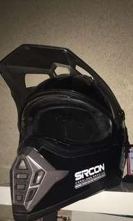 Helm Sircon Supermoto ukuran L black