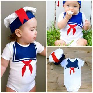 Pre order: Marshmallow Baby Romper outfit