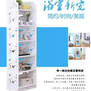 刻丽卫生间置物架厕所浴室架防水收纳架客厅卧室厨房整理储物架 防水防腐 经久耐用 可以水洗