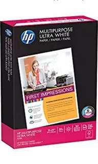 HP Printer Paper, Multipurpose20, 11 x 17, Ledger, 20lb, 96 Bright, 500 Sheets / 1 Ream