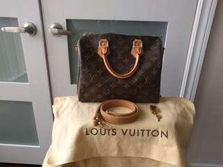 """Euc Authentic Louis Vuitton 25B with Mautto strap 28"""""""