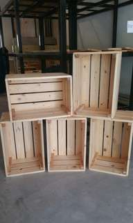 Customize pallet pine wood crate box