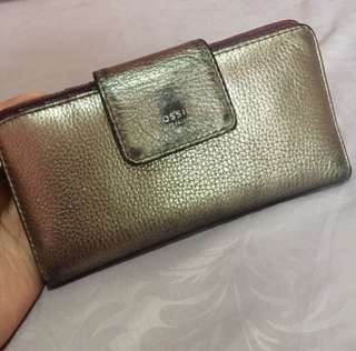 dompet fossil silver