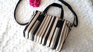 Colette Black and White Sling Bag