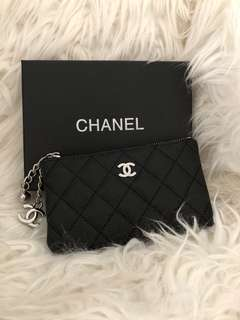 Chanel coin purse sliver metal