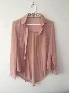 Beginning Boutique Dusty Rose top