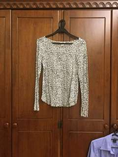 H&M dotted print blouse top