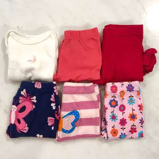 Preloved bundle baby girls clothes (0 to 6 months)