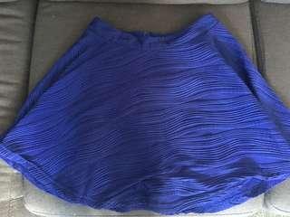 Ally blue skater skirt
