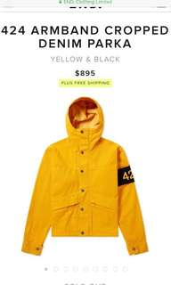 424 yellow denim parka