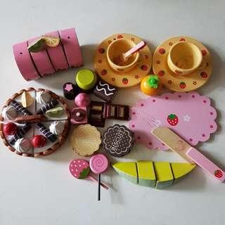 mother Garden 蛋糕/ 巧克力 扮家家酒 木製玩具