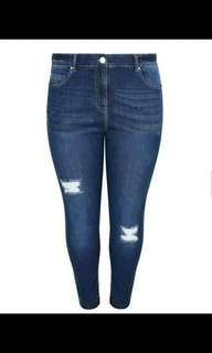Plus size tattered skinny jeans 💰480  Size30-38 Highwaist Stretch *cs