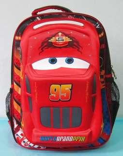 Tas Sekolah Anak Ransel Backpack SD Timbul Emboss CARS