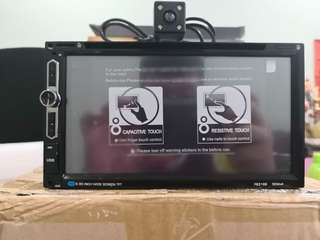 Double din dvd player FREE reverse CAMERA