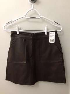 F21 Faux Leather Mini-Skirt